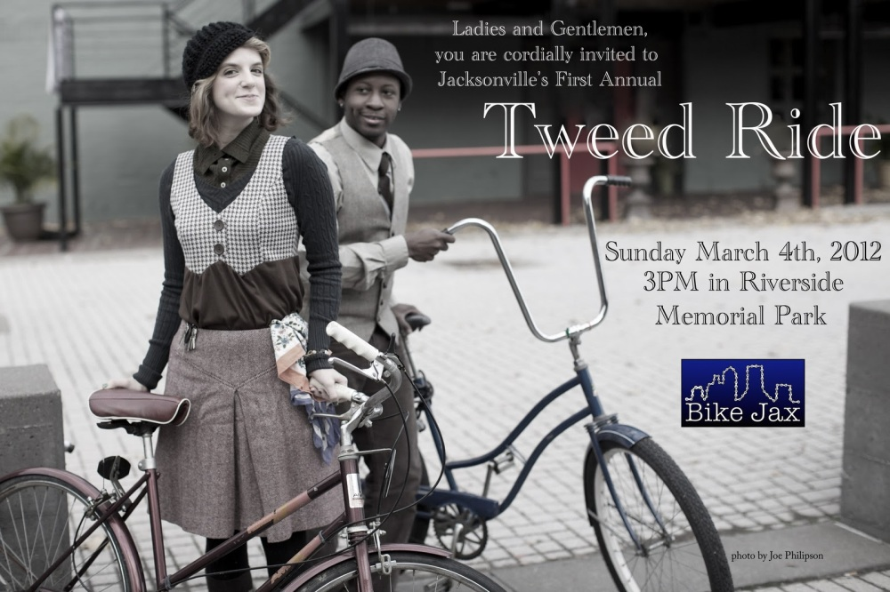 Bike Jax's First Annual Tweed Ride is this Sunday! (1/6)